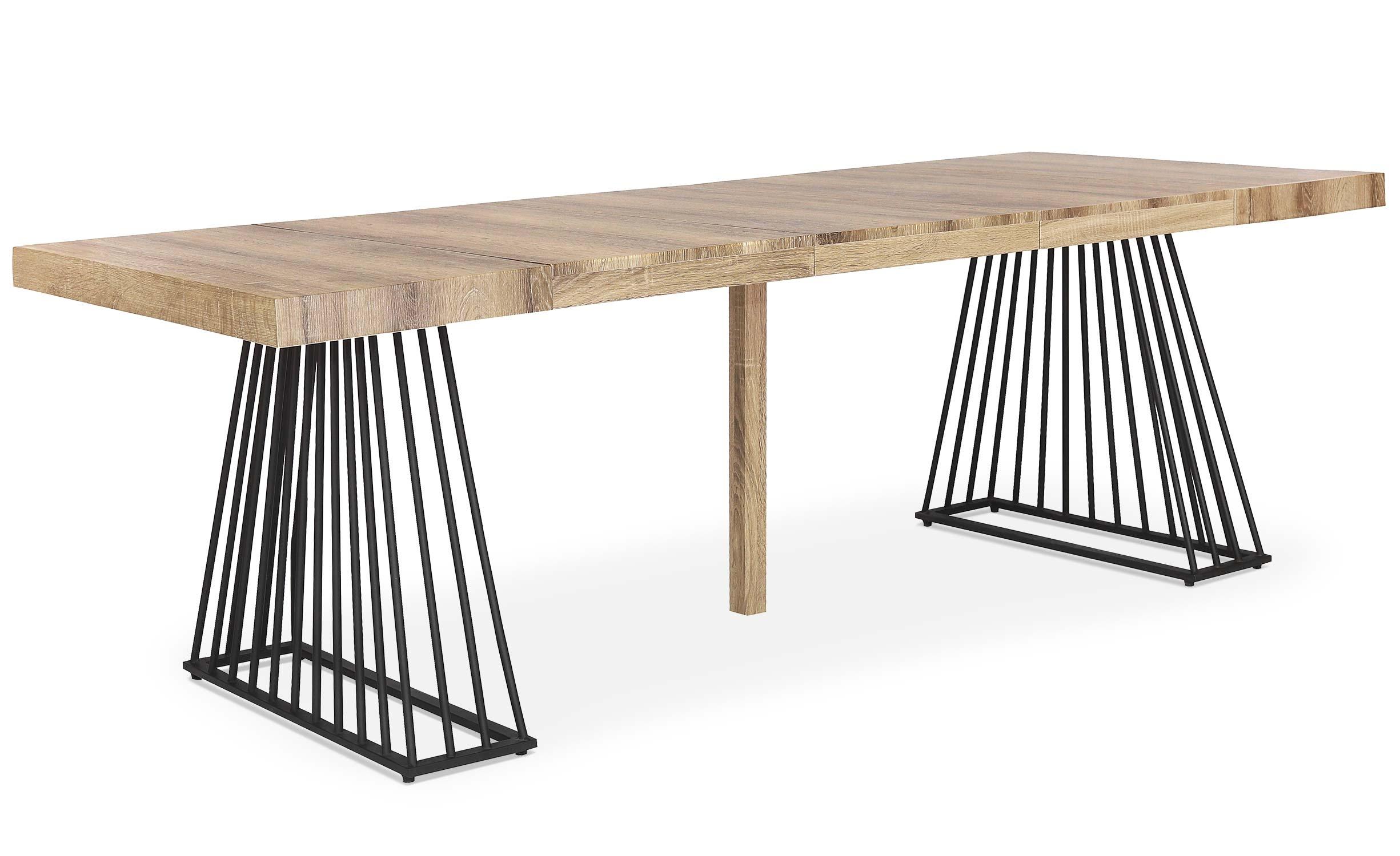 Fabriek uitschuifbare tafel Sonoma hout
