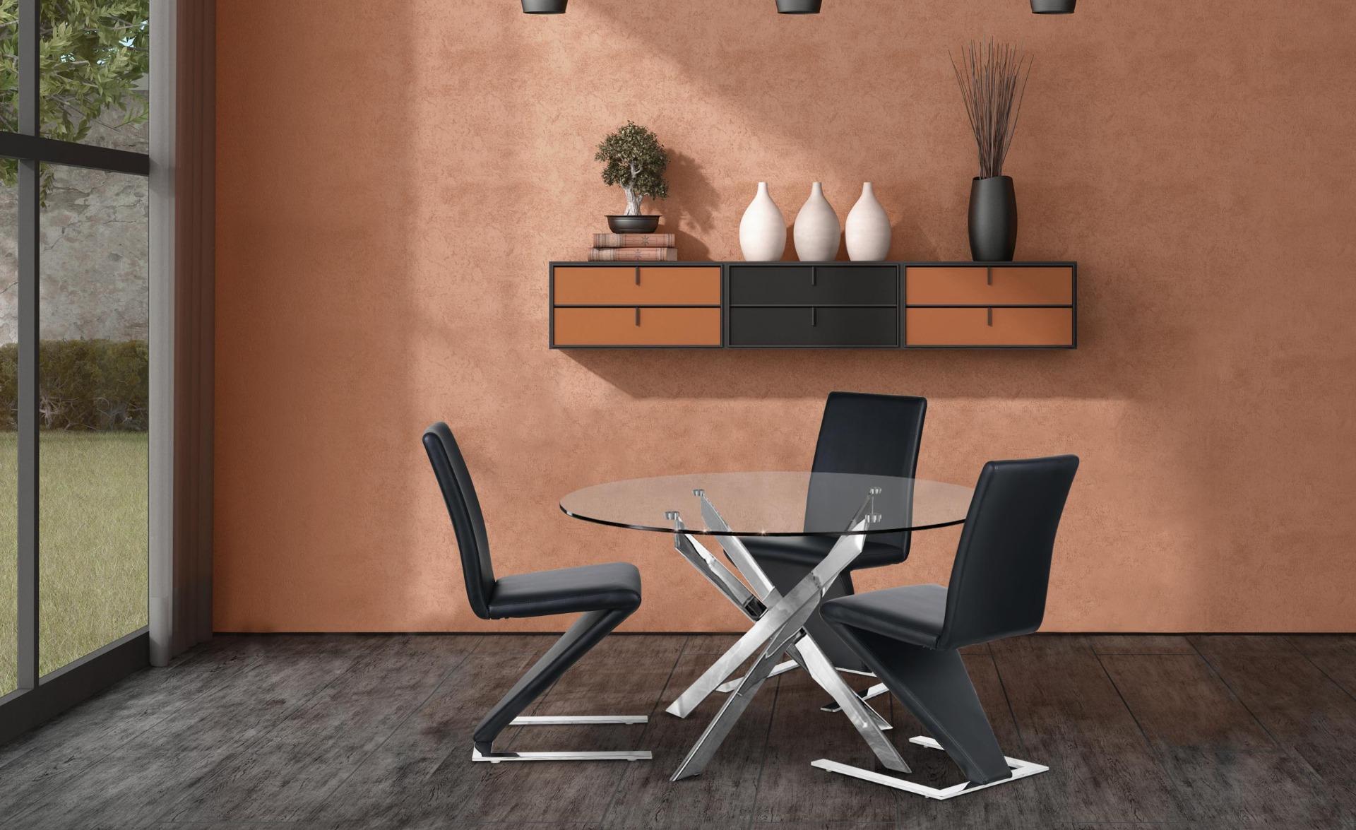 Set van 2 Flash Zwarte stoelen