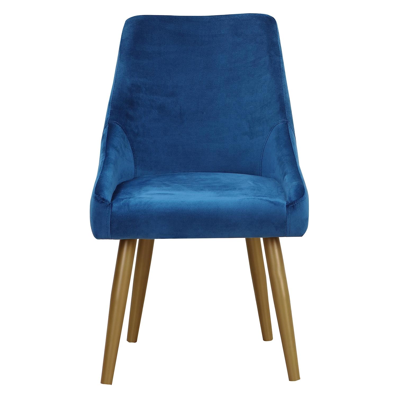 Set van 2 Fokora fauteuils van blauw fluweel