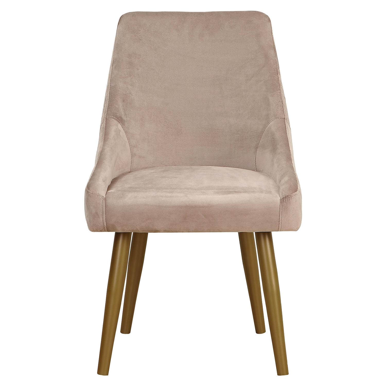 Set van 2 Fokora fauteuils in taupe velours