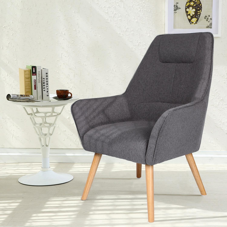 Fox grijze Scandinavische fauteuil met hoge rugleuning