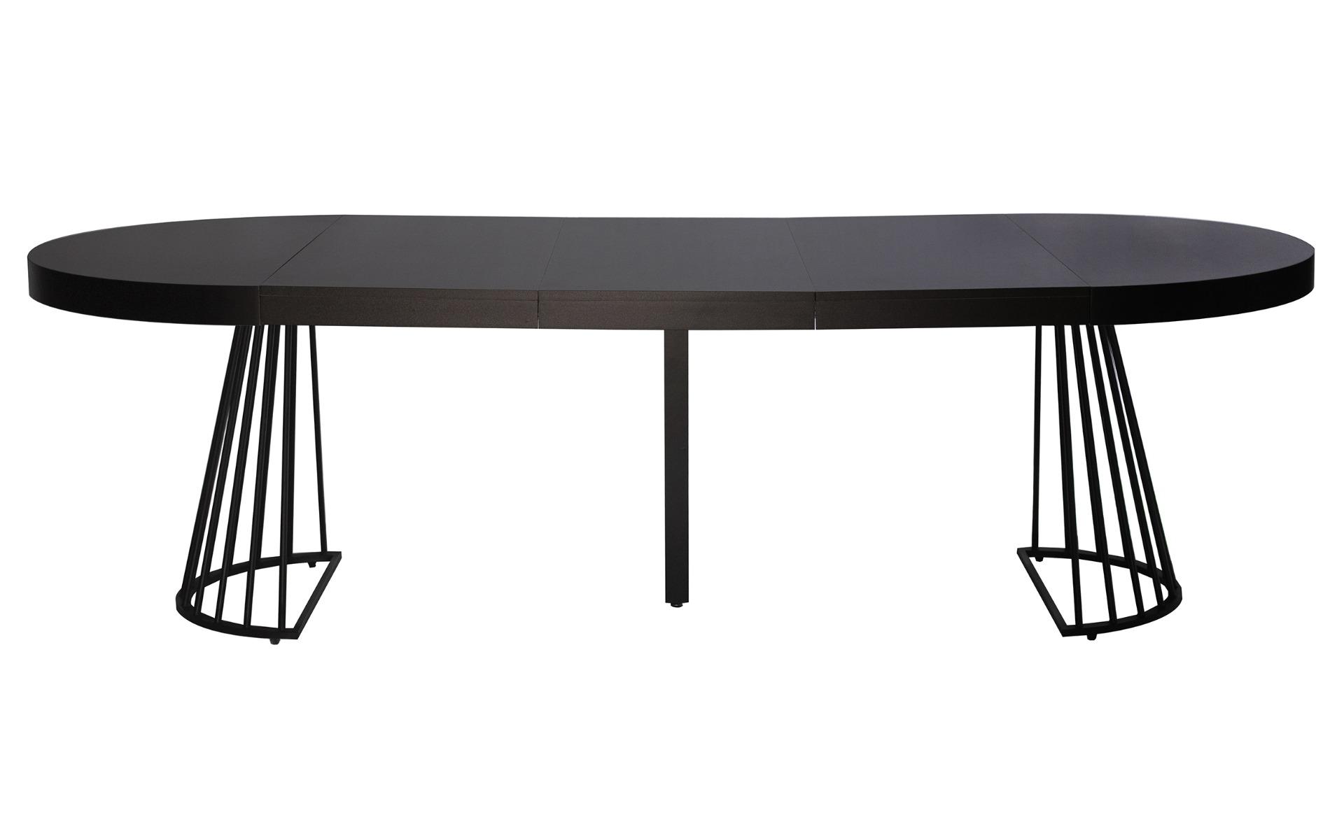 Grivery ronde uitschuifbare tafel met zwarte zwarte poten