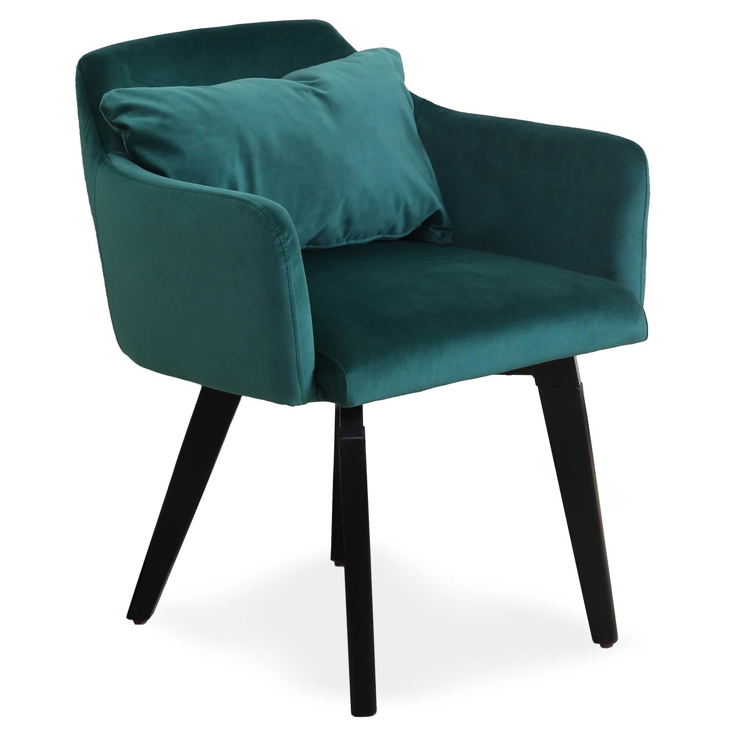 Chaise / fauteuil Gybson Velours Vert