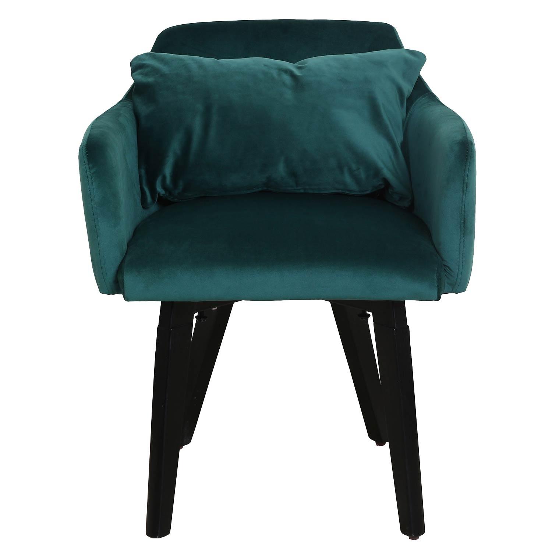 Set van 20 Gybson Velvet Groen stoelen / fauteuils