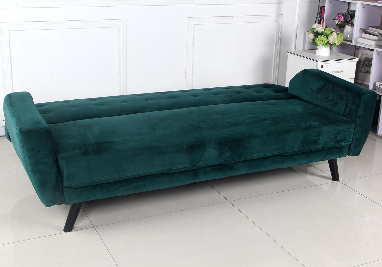 Scandinavische slaapbank Helios groen fluweel