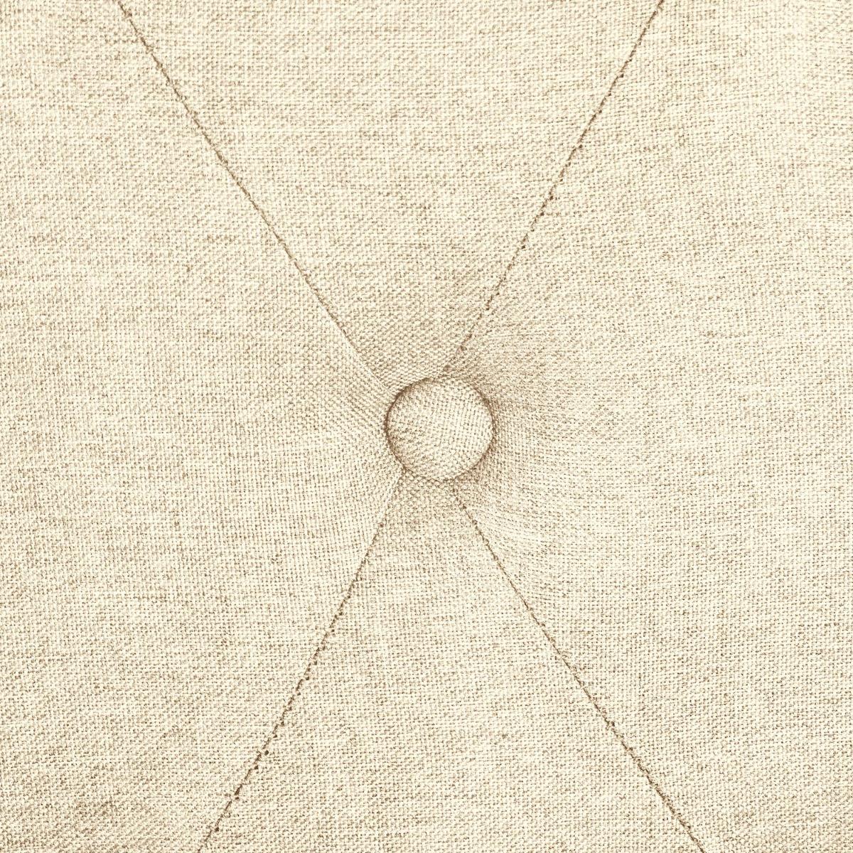 Hermione hoofdeinde 160 cm wit hout en beige stof