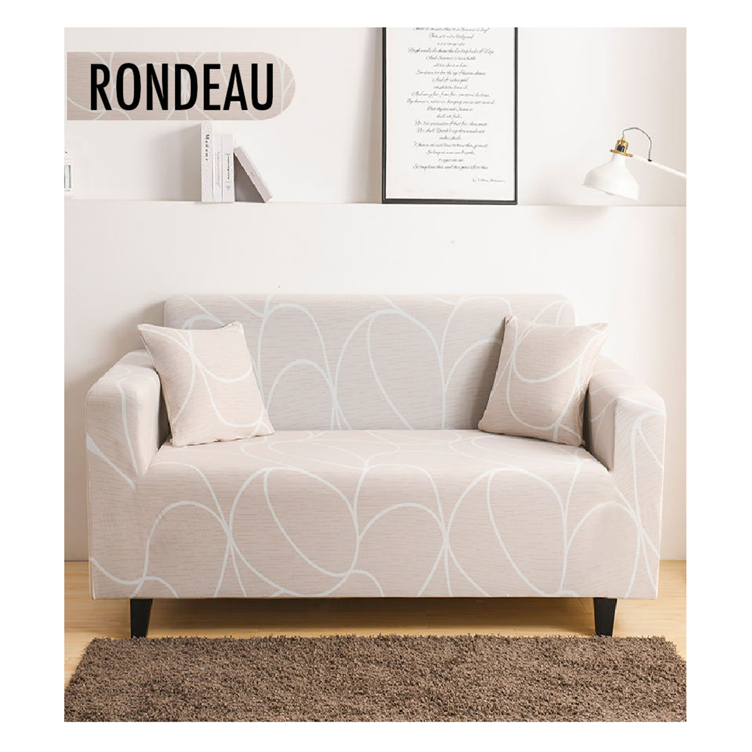 Rondeau 2-zits Decoprotect stretch bankhoes