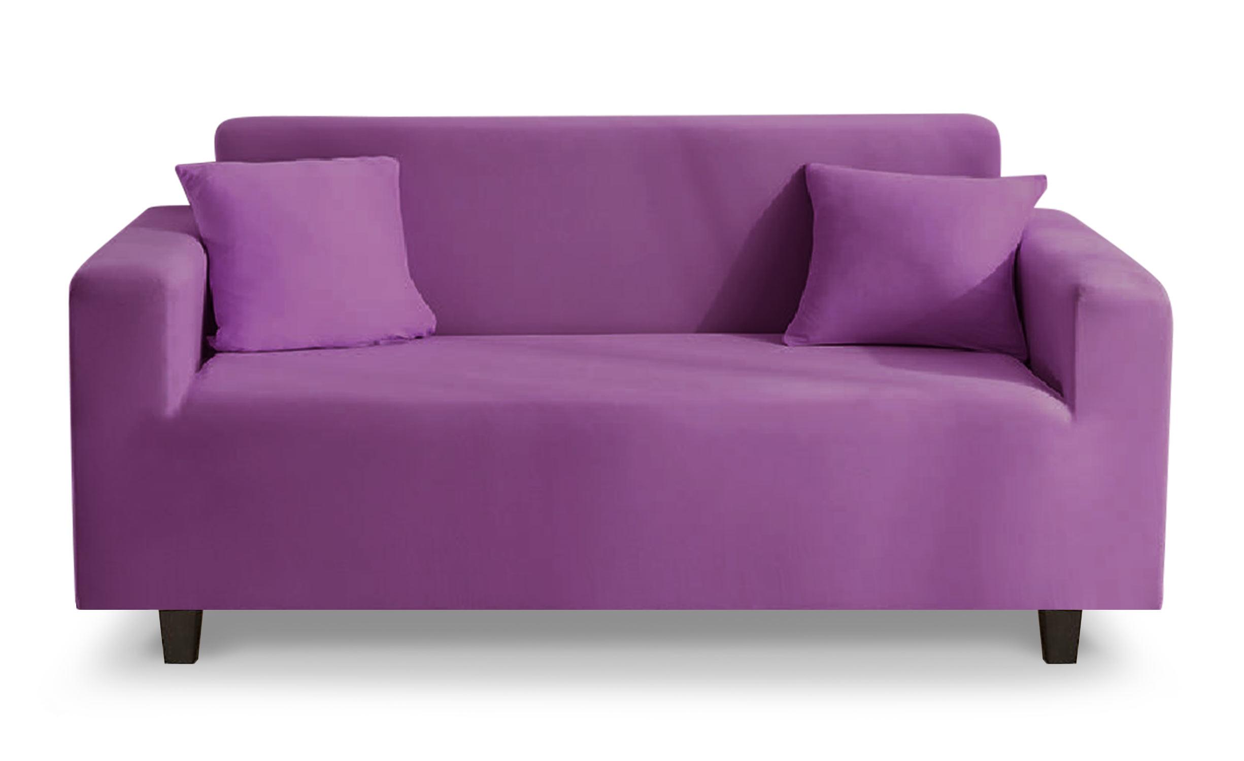 Housse de canapé extensible Decoprotect 2 places Violet