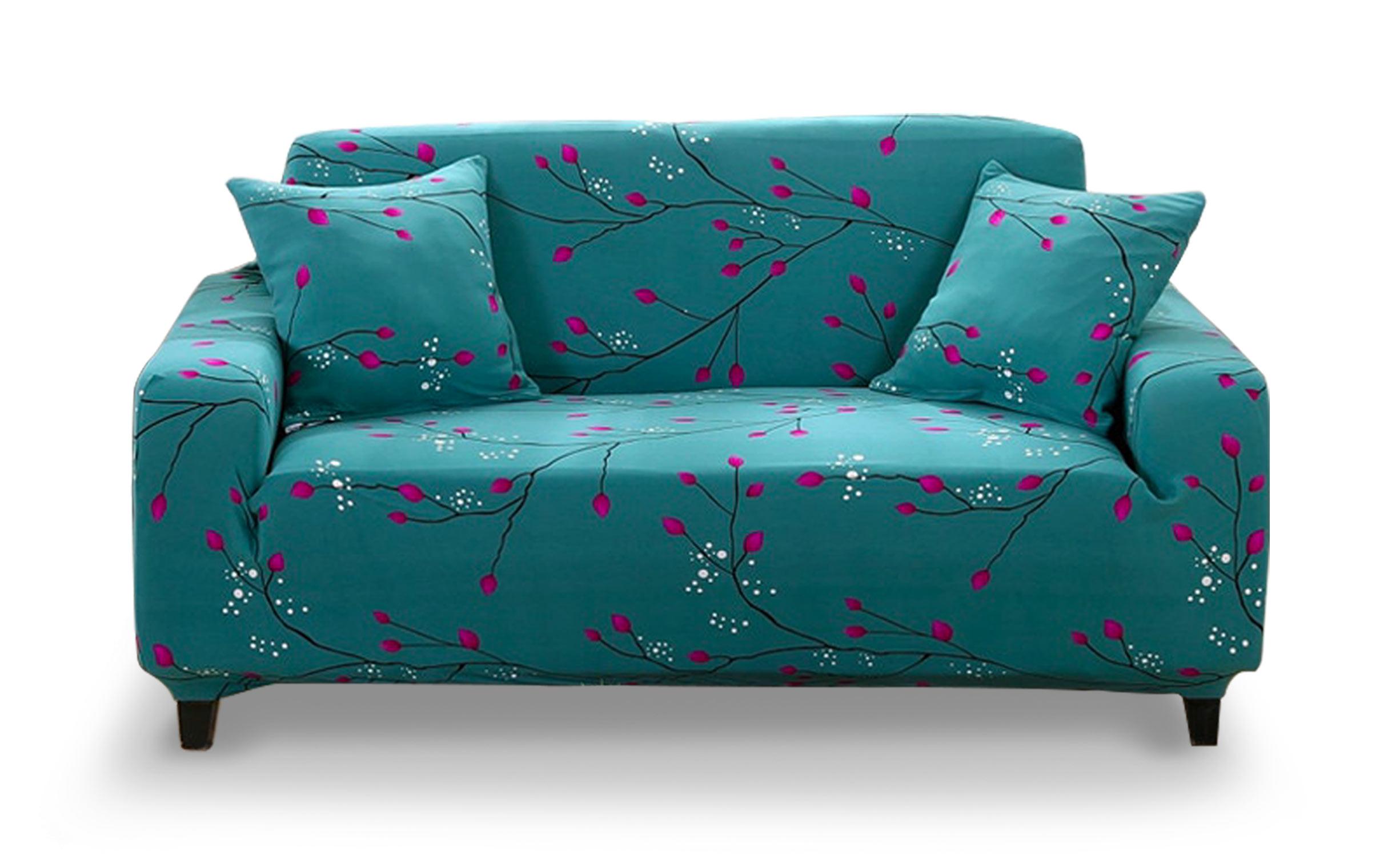 Housse de canapé extensible Decoprotect Fleur 2 places Celina