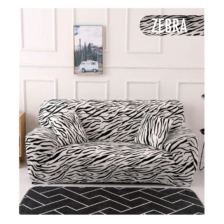 Hoes voor 3-zits stretchfauteuil Zebra Decoprotect