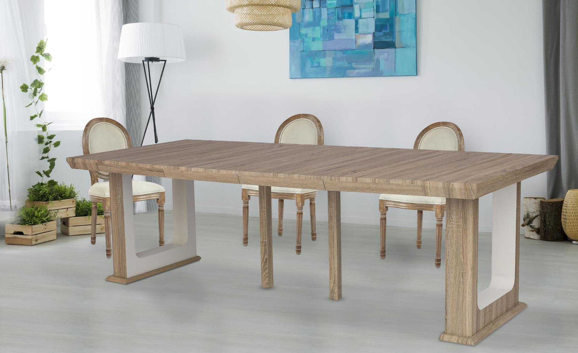 Houston uitschuifbare consoletafel 250 cm verouderd eiken