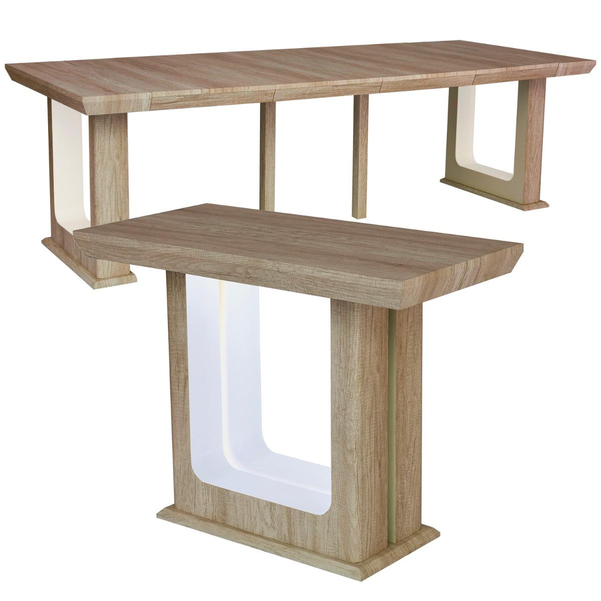 Table Console extensible 250cm Houston Chêne Vieilli