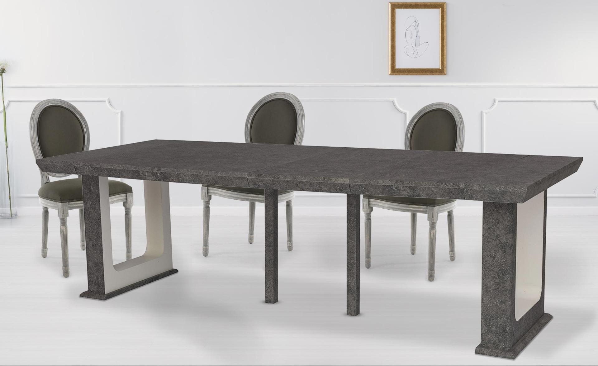 Houston Concrete Effect uitschuifbare consoletafel van 250 cm