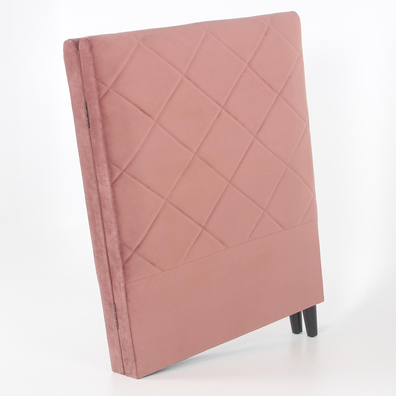 Apolline hoofdeinde 180 cm roze fluweel