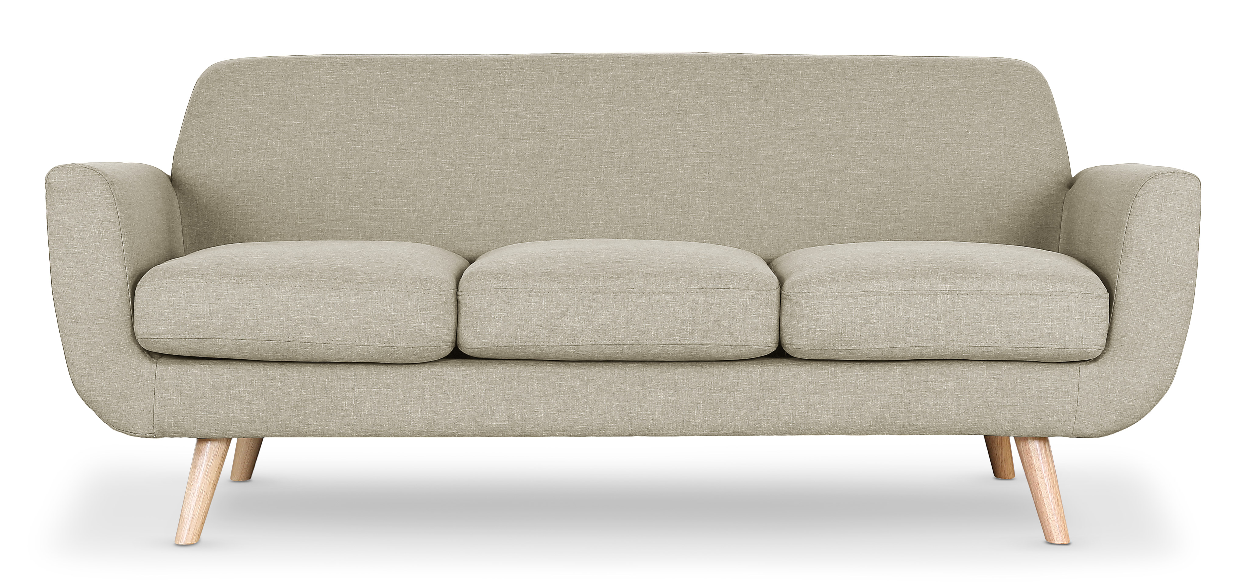 Scandinavische 3-zits Donau Sofa in beige stof