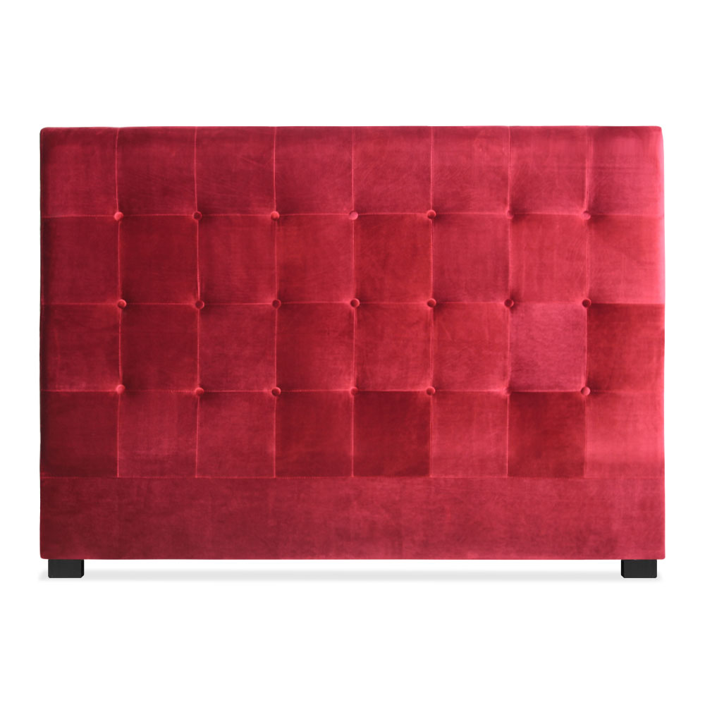 Tête de lit capitonnée pour lit au sommier de taille standard 160cm Luxor velours Rouge