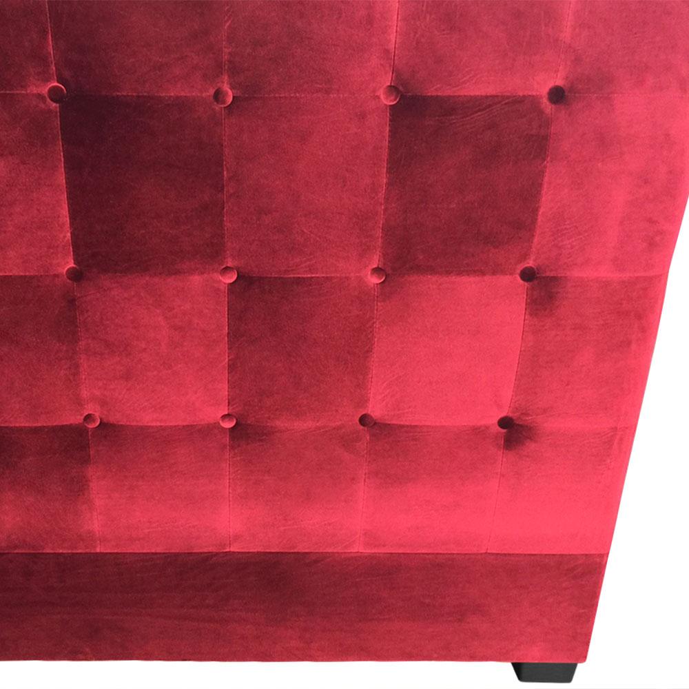 Luxor hoofdeinde 160 cm Red Velvet