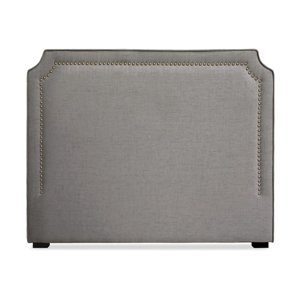 Tête de lit Milana 140cm Tissu Taupe avec clous de tapissier