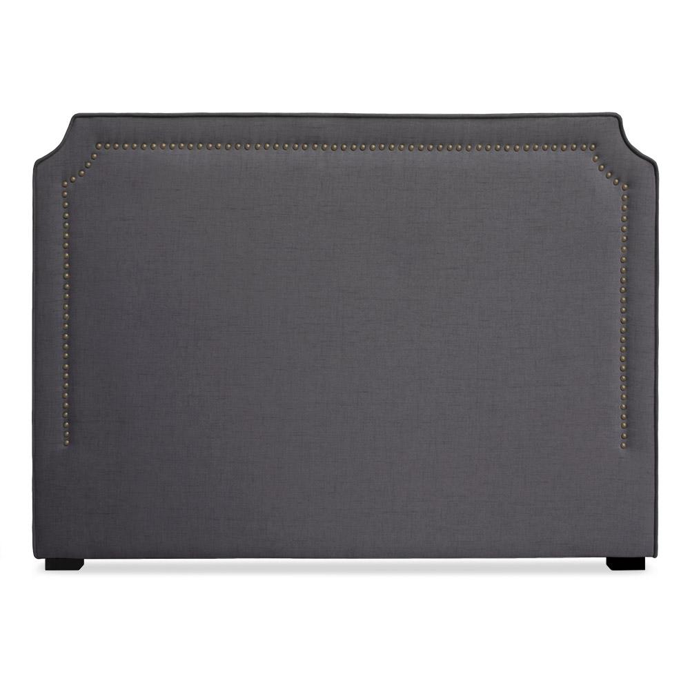 Tête de lit Milana 160cm Tissu Gris avec clous de tapissier