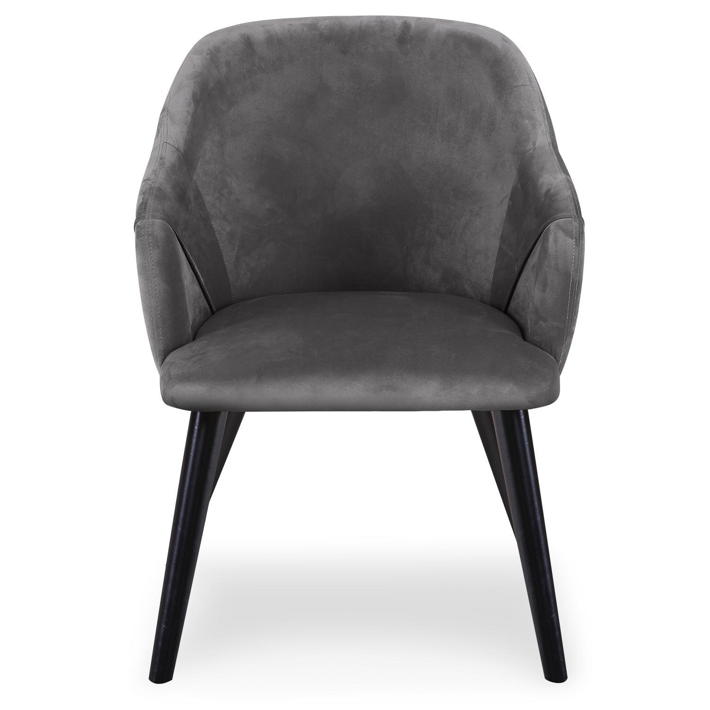 Set van 2 Liberto fauteuils van grijs velours
