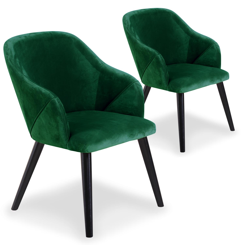 Lot de 2 fauteuils Liberto Velours Vert