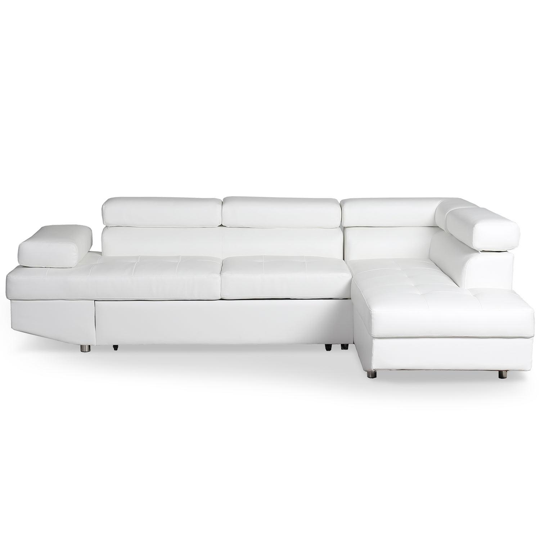 Canapé d'angle convertible Lido Blanc