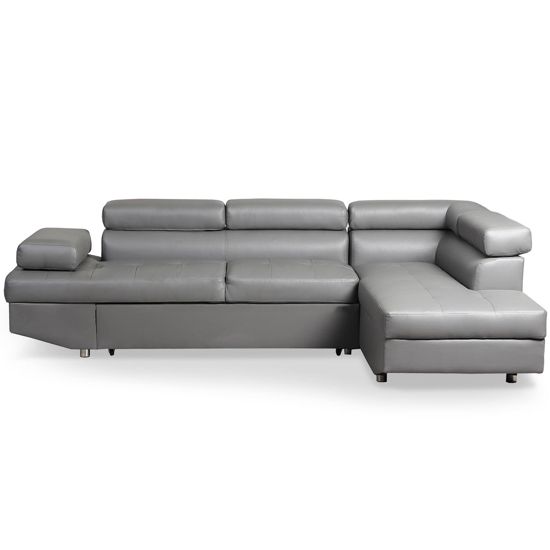 Canapé d'angle convertible Lido Gris