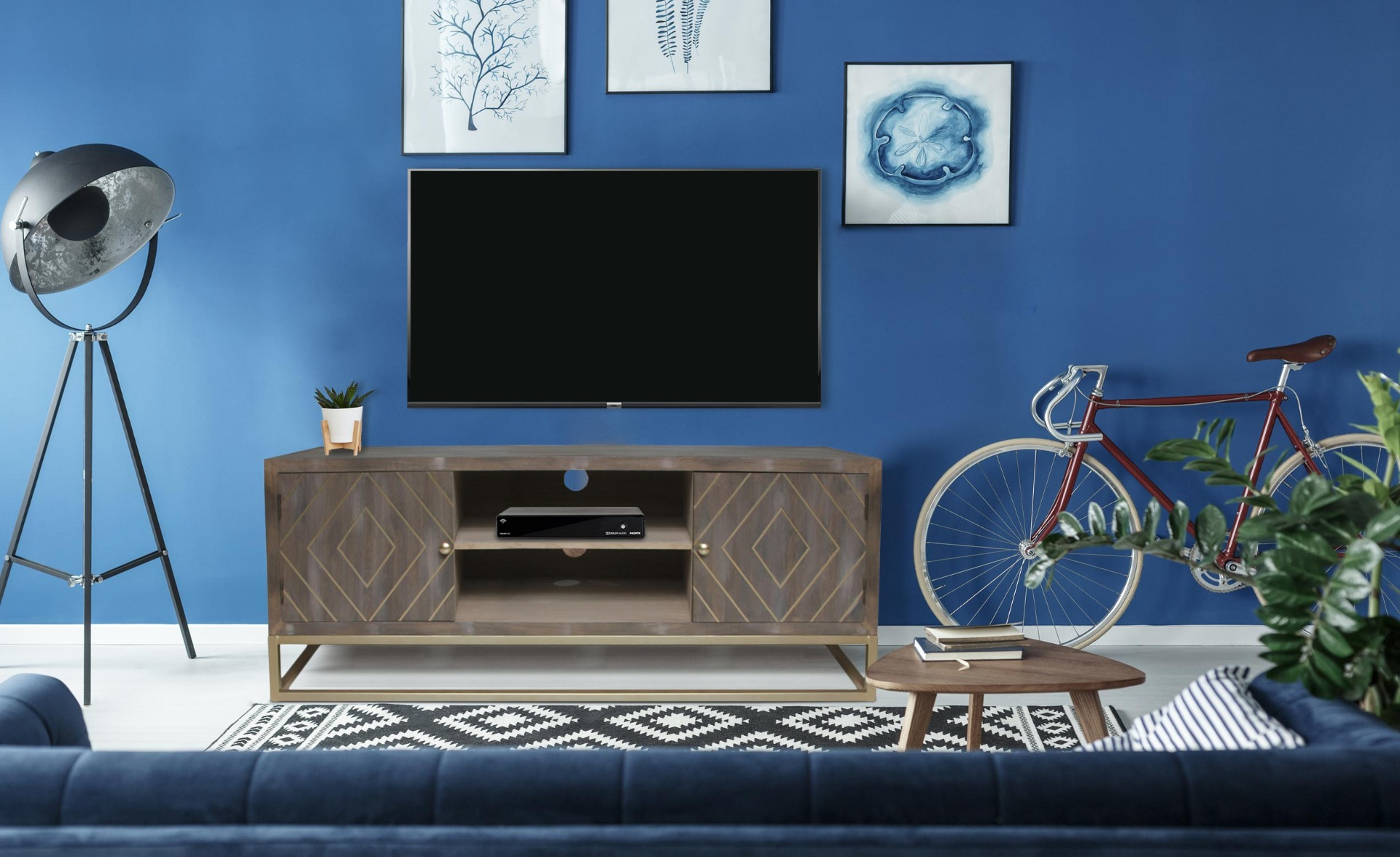 Lipnia vintage houten tv-meubel