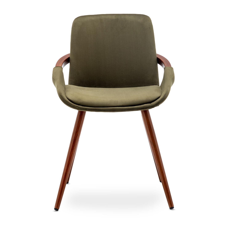 Set van 2 Scandinavische khaki Kilembe fluwelen stoelen