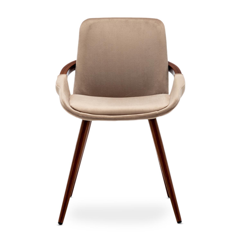 Kavel van 2 Scandinavische stoelen Kilembe Velvet Taupe