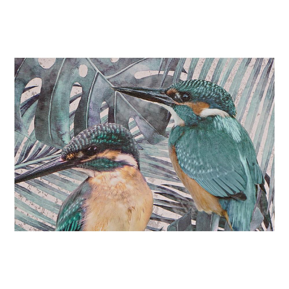 Schilderij DKD Home Decor Canvas Vogels Lakens (2 pcs) (40 x 1.8 x 40 cm)