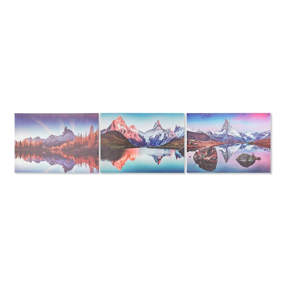 Lot de 3 toiles Cervin 70x50cm Motif montagne Multicolore