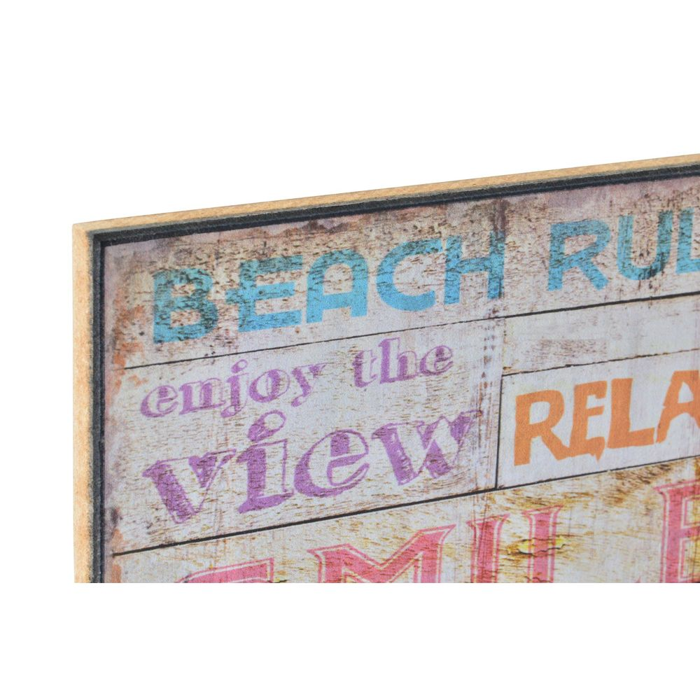 Schilderij DKD Home Decor Hout Papier Strand (4 pcs) (15 x 1 x 25 cm)