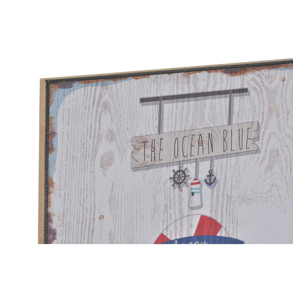 Schilderij DKD Home Decor Hout Papier Zomer (4 pcs) (25 x 1 x 25 cm)