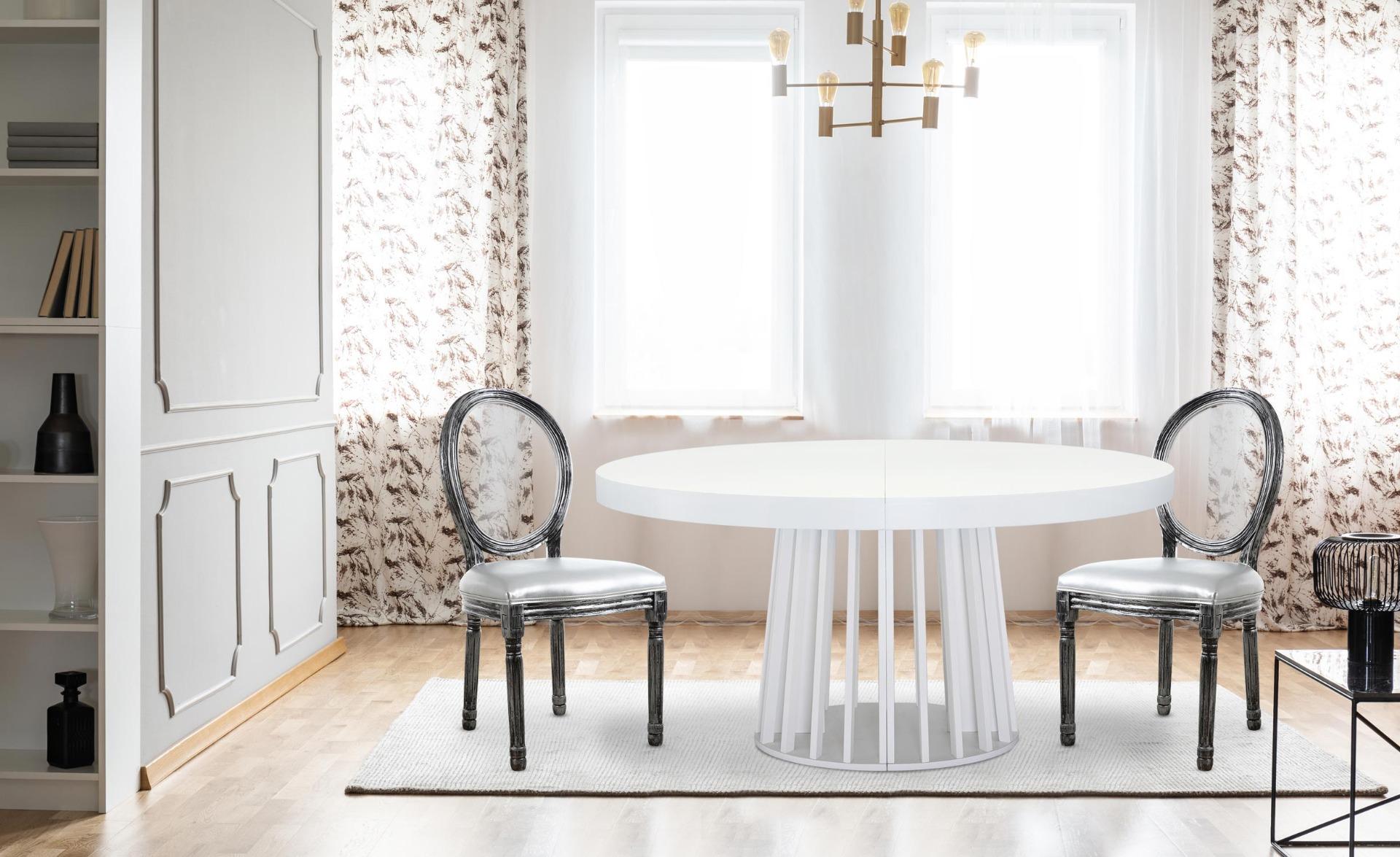 Lot van 2 stoelen Louis XVI Glas Zilver