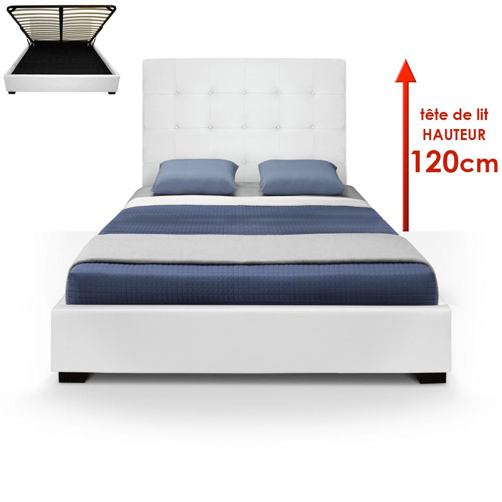 Trevene Safe Bed + 140cm Sommier Wit