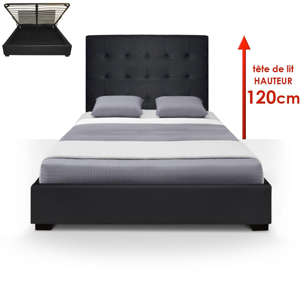 Trevene Safe Bed + 140cm Boxspring Zwart