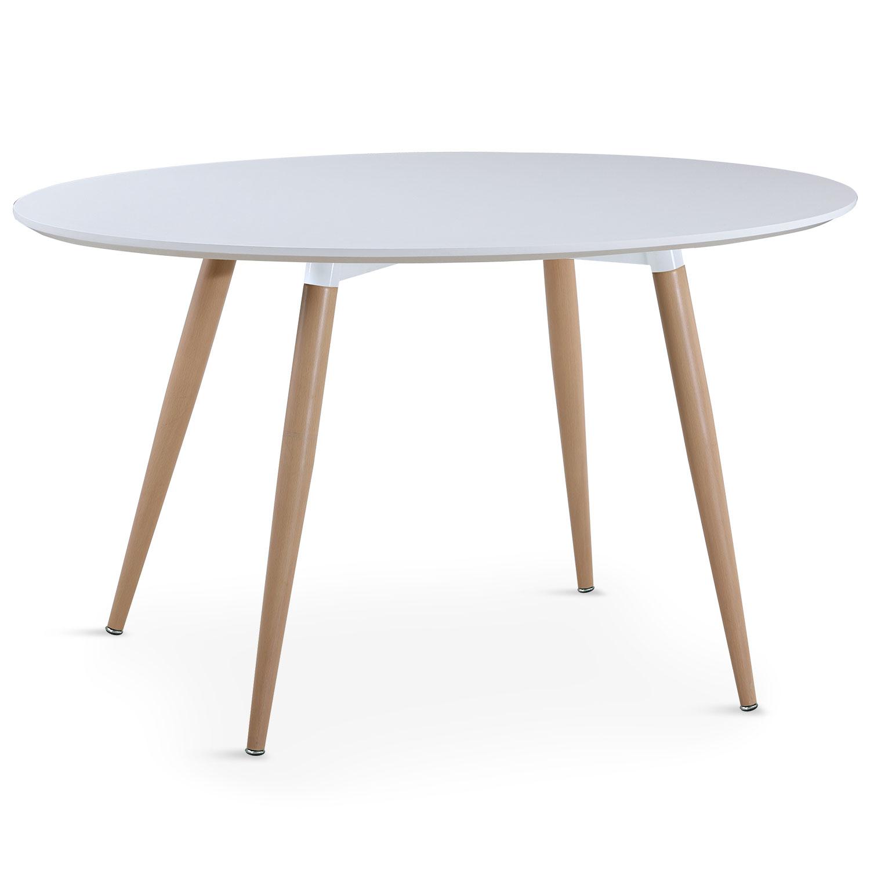 Scandinavische ovale tafel Sissi Wit