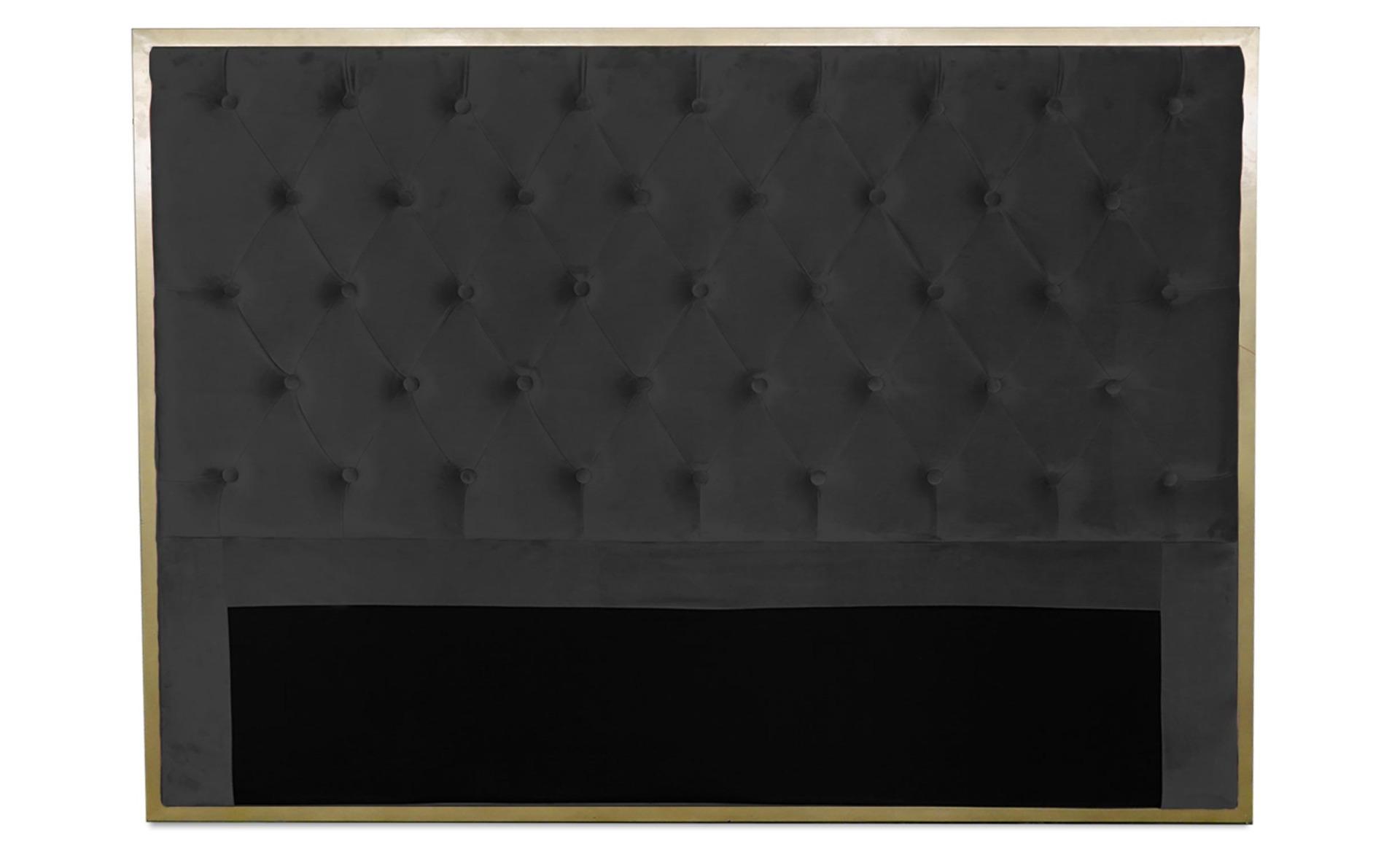 Tête de lit Mariella 140cm Velours Noir
