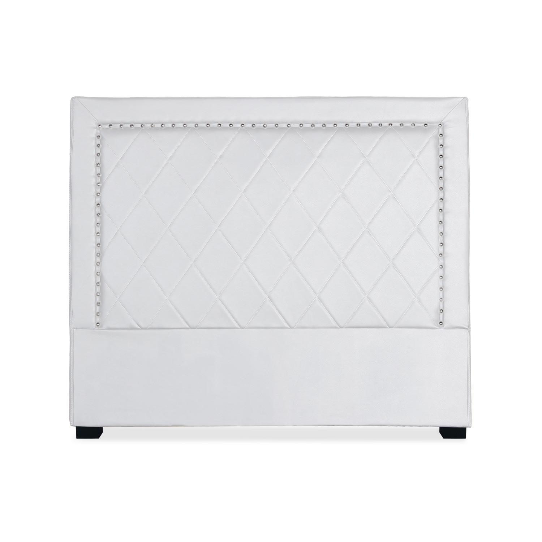 Tête de lit Meghan 140cm Simili P.U. Blanc