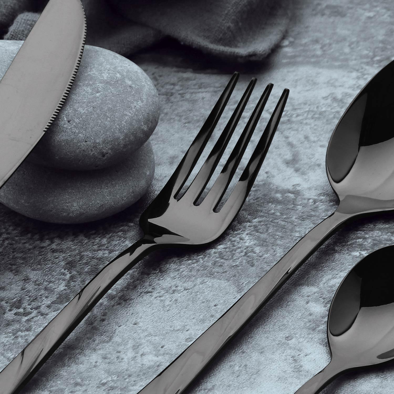 Set van 24 zwarte Minarc roestvrijstalen bestek