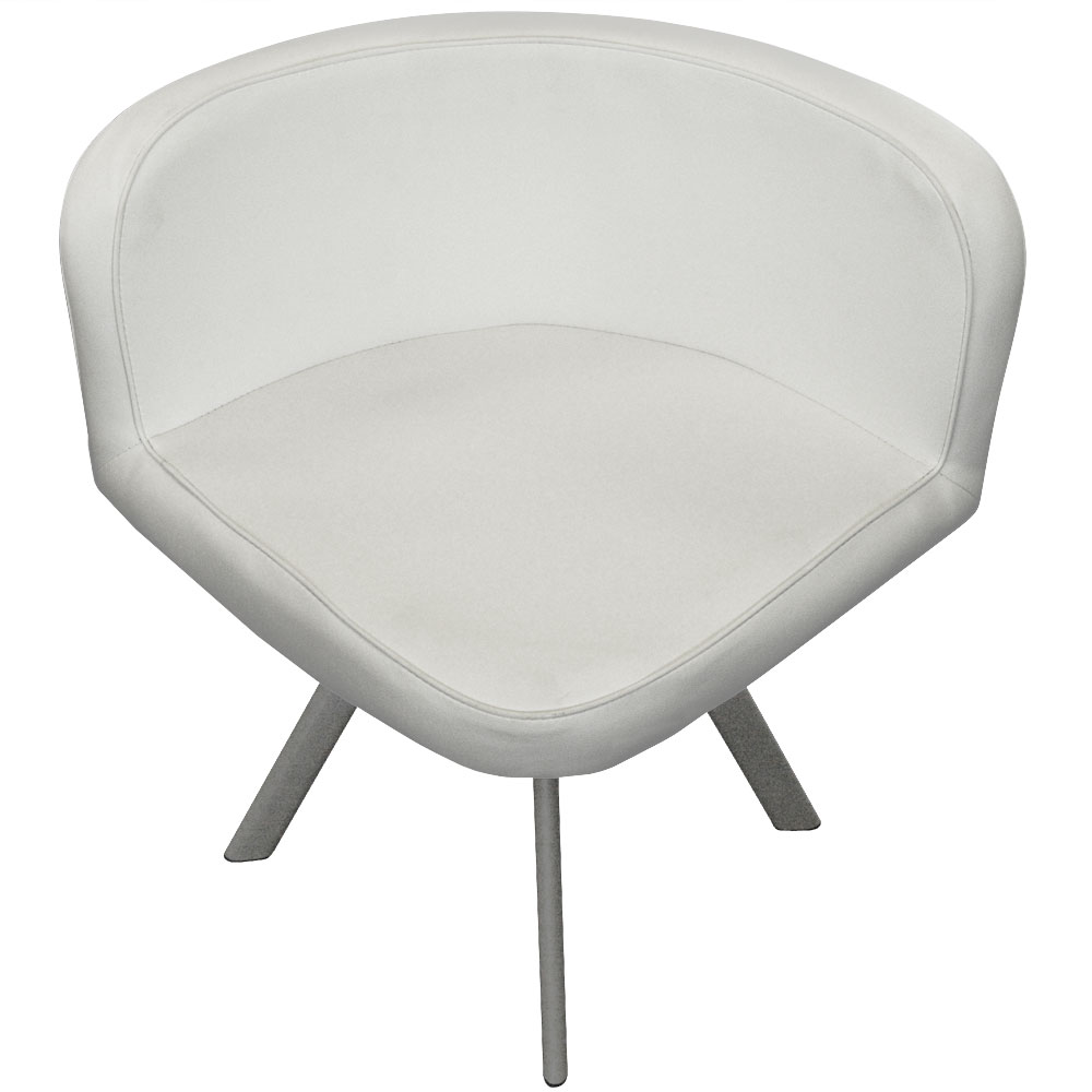 Mosaic 90 tafel en stoelen wit