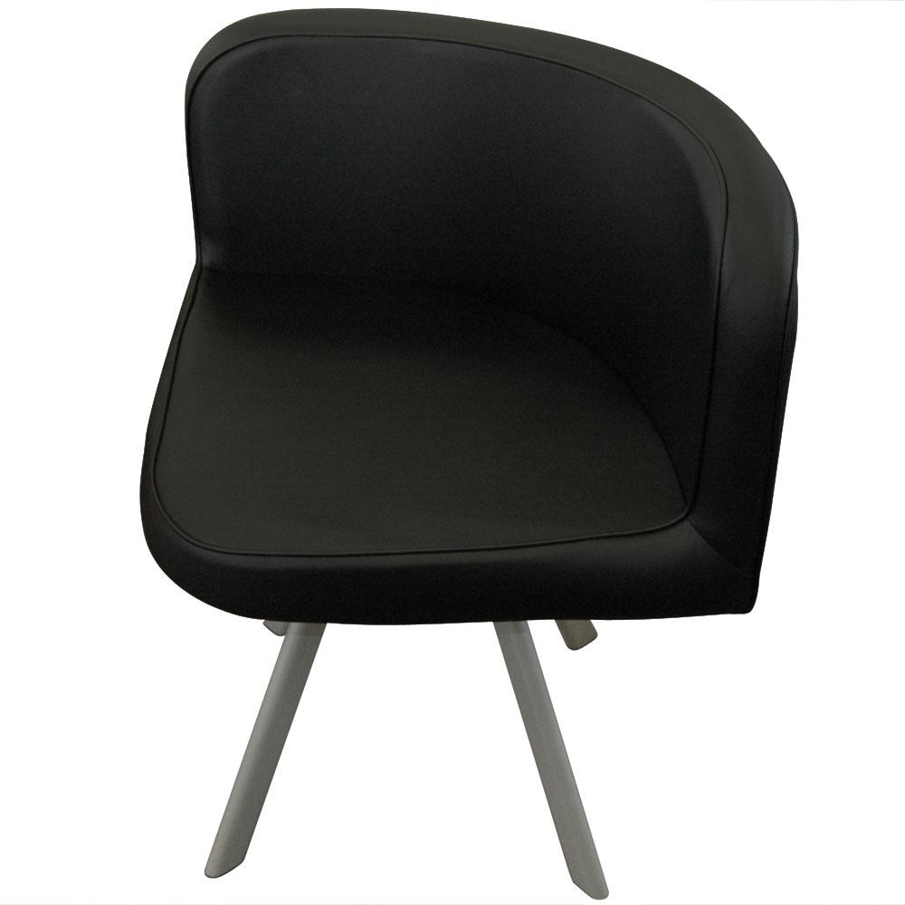 Mosaic 90 tafel en stoelen wit en zwart