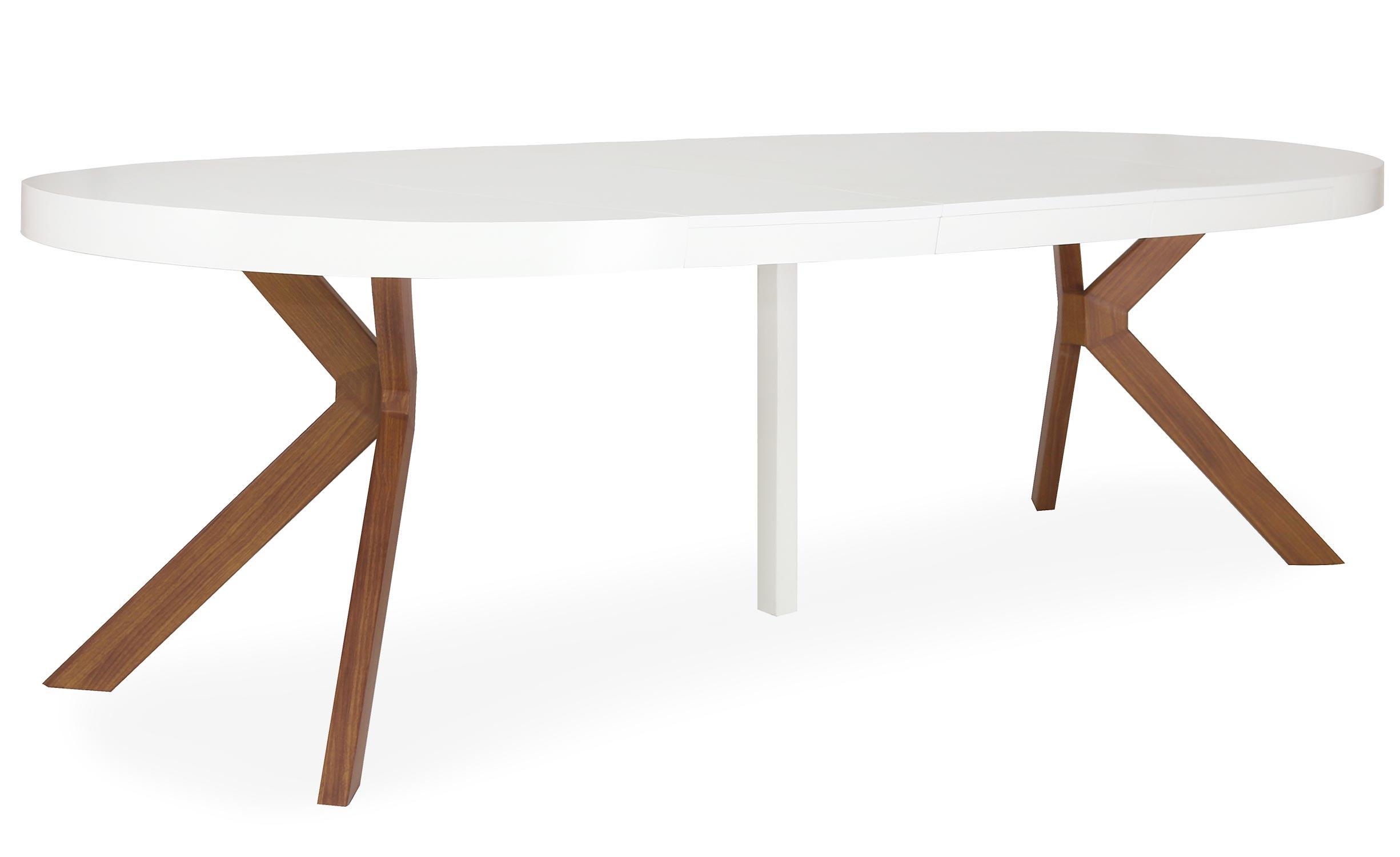 Uitschuifbare ronde tafel Myriade Wit