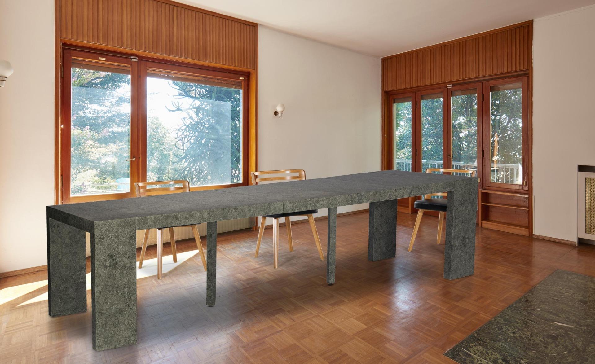Uitschuifbare consoletafel Nassau XL grijs betoneffect