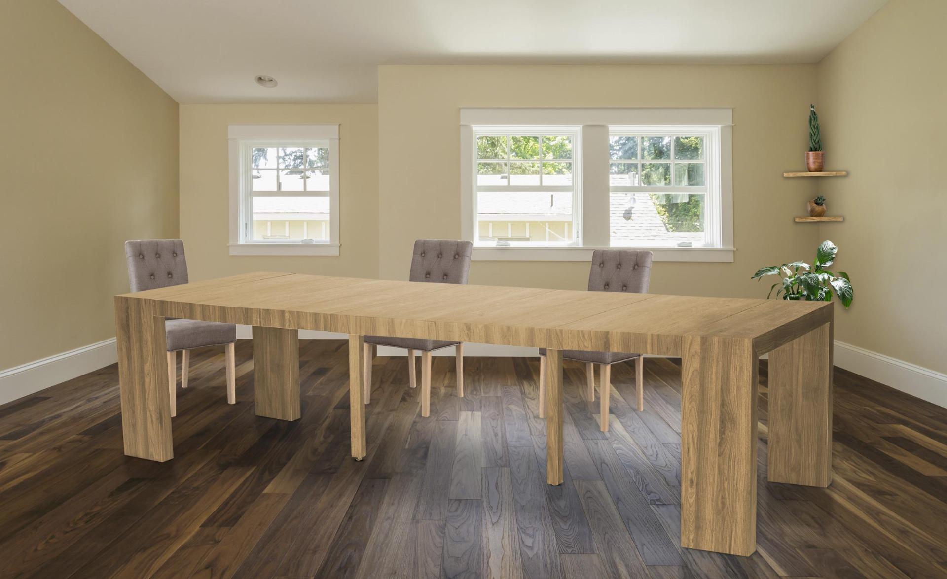 Uitschuifbare consoletafel Nassau XL Sonoma Wood