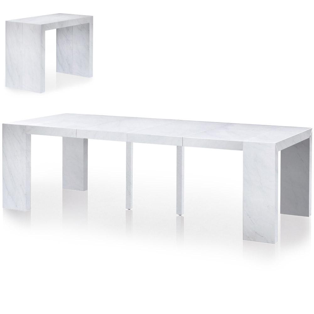 Table Console Nassau XL Effet Marbre