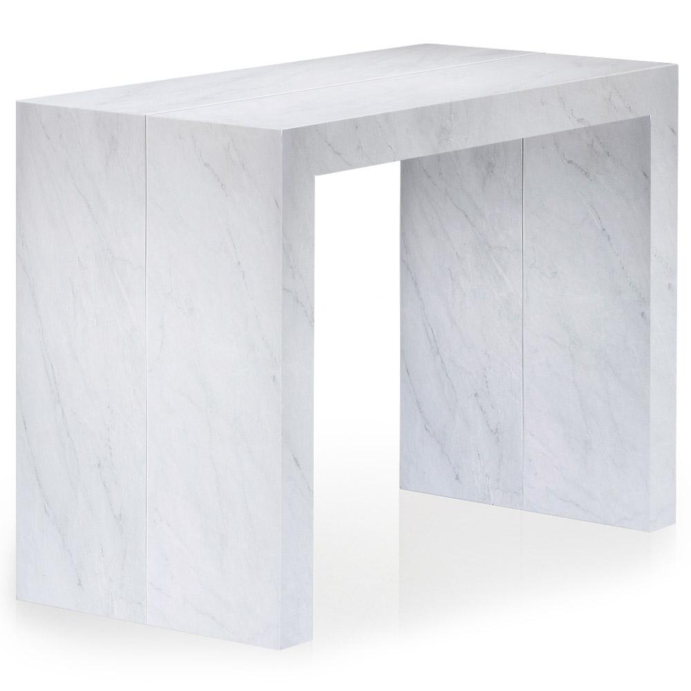 Uitschuifbare consoletafel Nassau L met marmereffect
