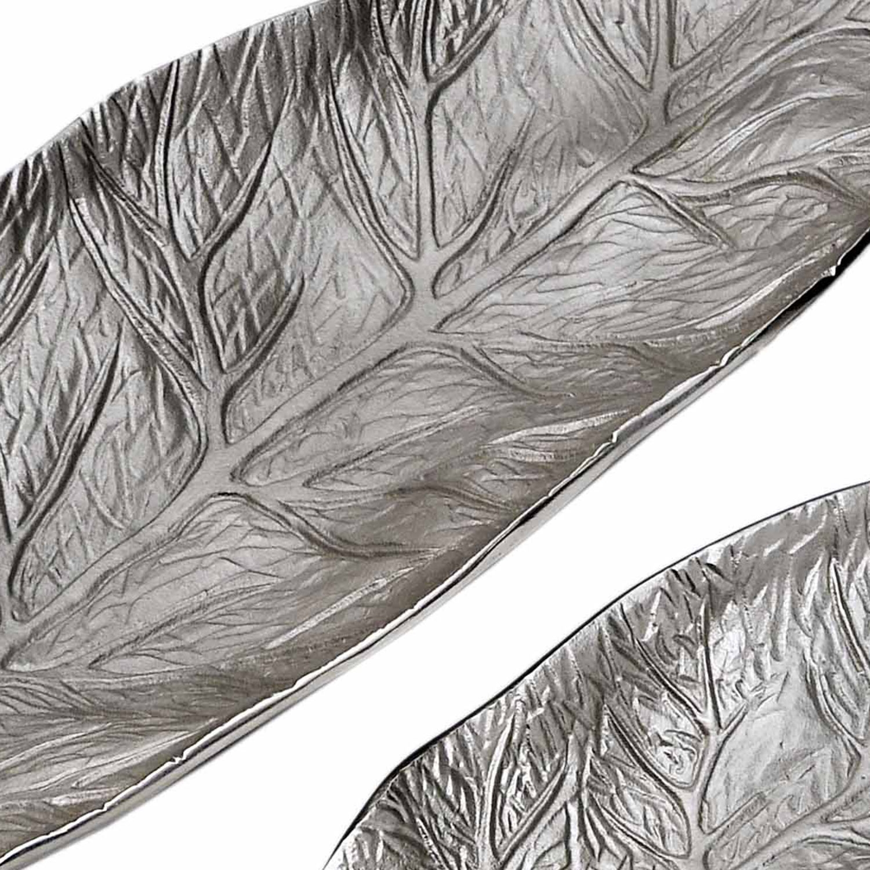 Set van 3 bladbakken Natura Nickel