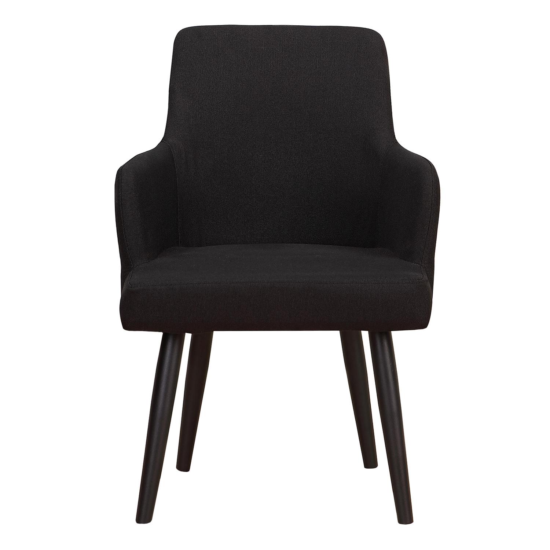 Set van 2 Neiva fauteuils in zwarte stof